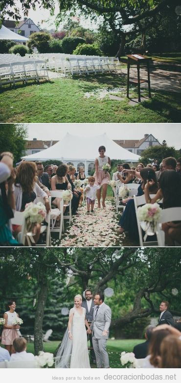 Una manera sencilla de decorar una boda en el jardín