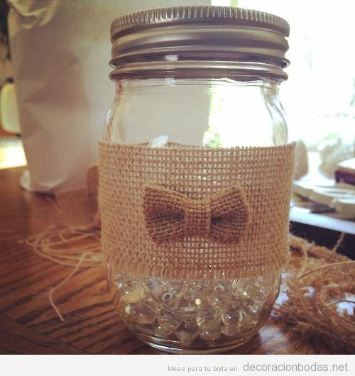 ideas y diy baratas para decorar mesas de boda