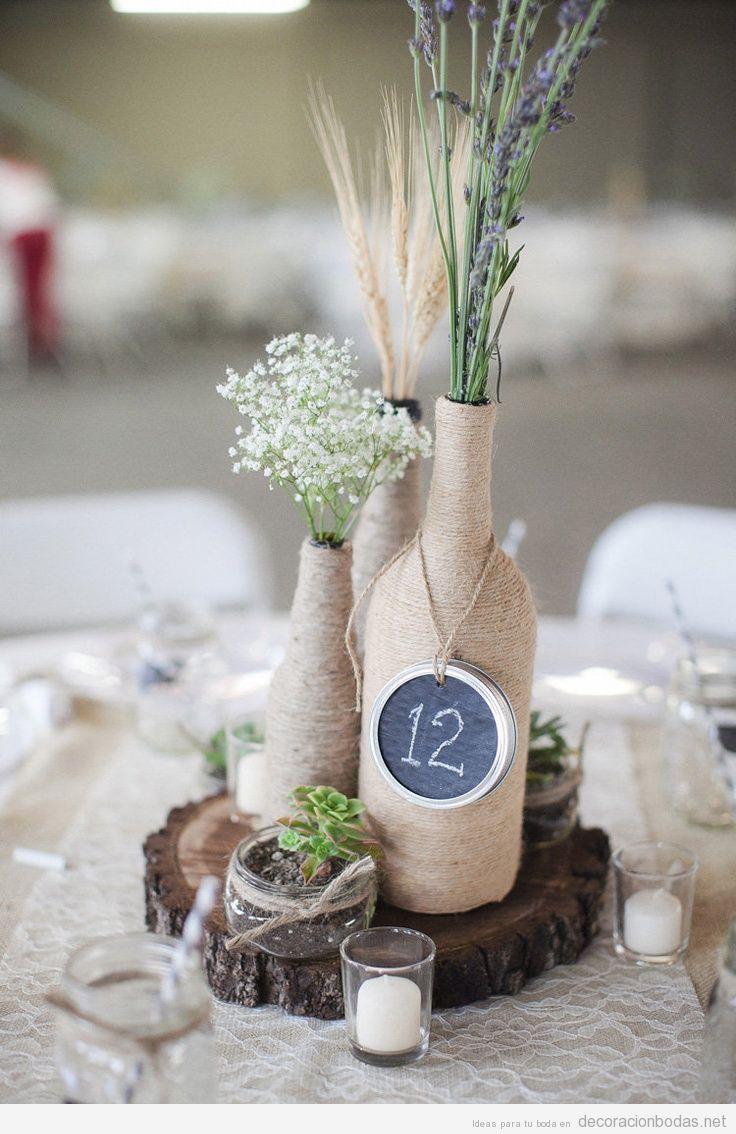 R stico archivos decoraci n bodas - Centro de mesa rustico ...