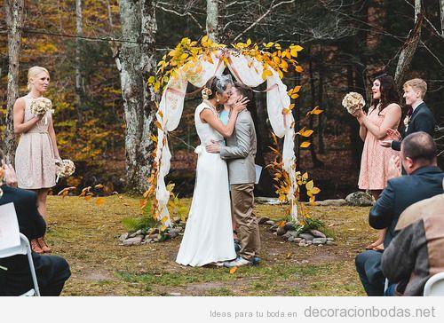 Ideas para decorar una boda en el bosque en otoño