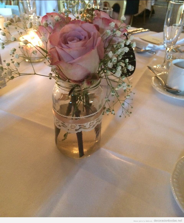 Centro de mesa bonito y barato para una boda