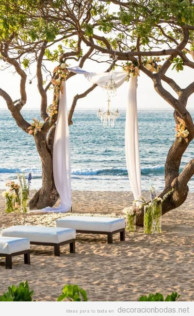 Ideas para decorar una boda sencilla y natural en la playa