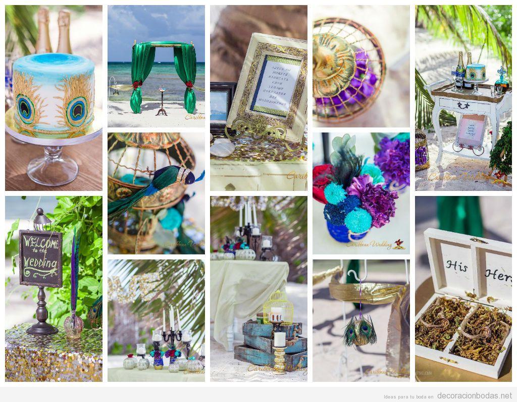12 ideas para decorar una boda colorida en la playa