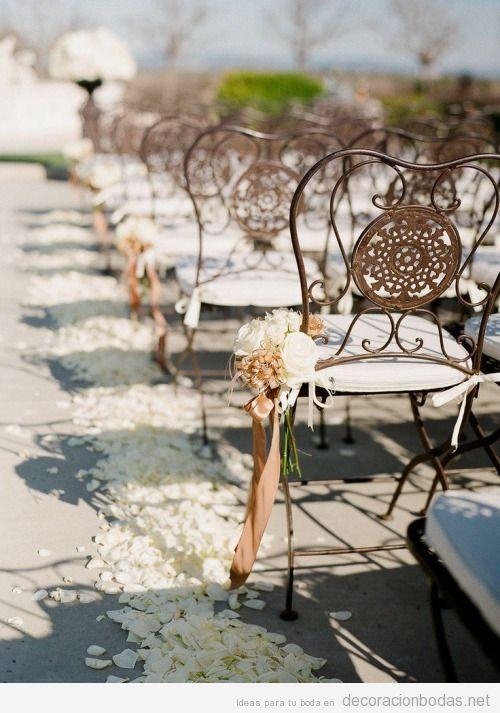 sillas hierro forjado para boda aire libre
