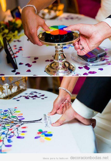Ideas para decorar DIY el mantel de tu mesa de boda con un bonito árbol