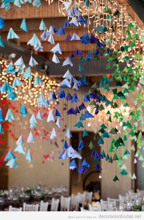 Papiroflexia archivos decoraci n bodas for Decoracion para techos
