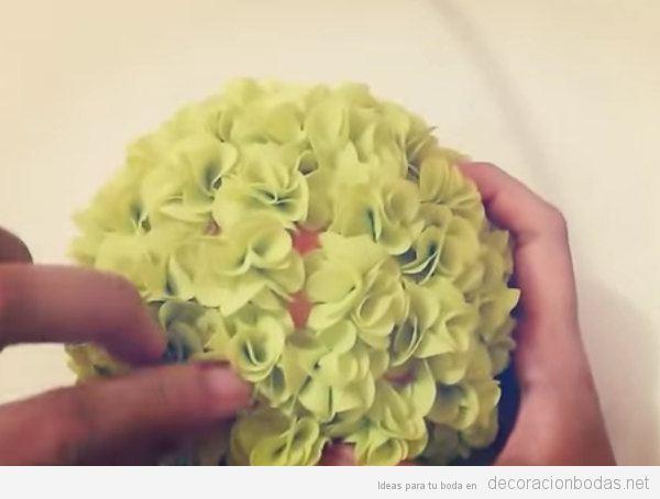 Flores de tela, decoración de boda DIY y barata