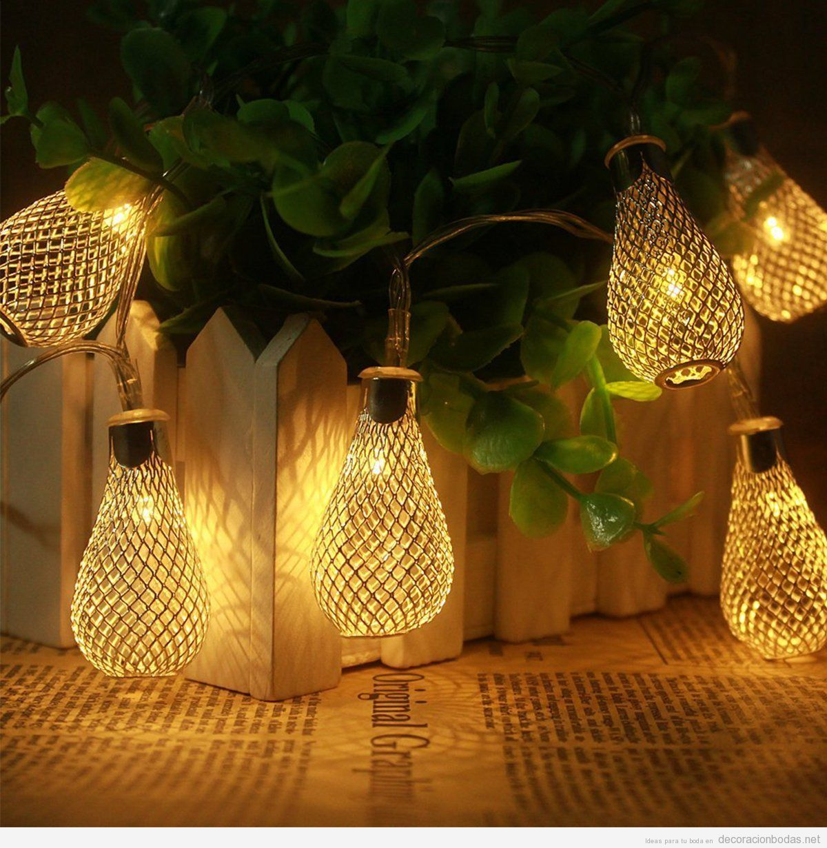 Sal n archivos decoraci n bodas for Luces verdes para jardin