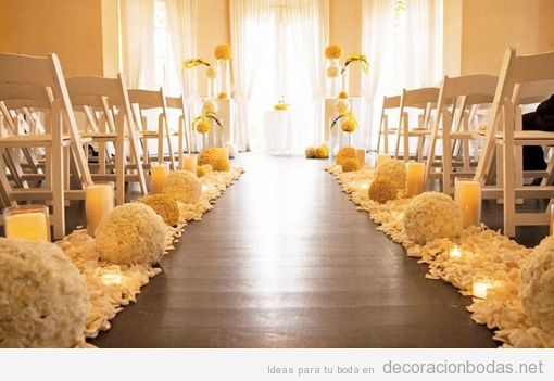 Idea preciosa para decorar una boda religiosa o civil en for Como decorar una boda sencilla en casa
