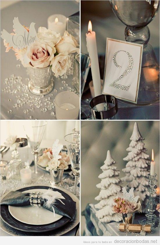 4 ideas para decorar una mesa de boda en invierno • decoración bodas