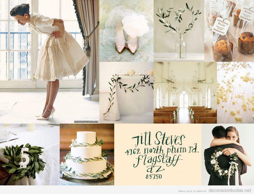 Preciosa decoración de boda minimalista, natural y con clase en invierno