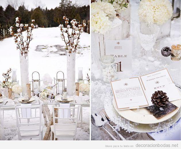 Decoraci n de mesa para una boda en invierno decoraci n for Decoracion invierno