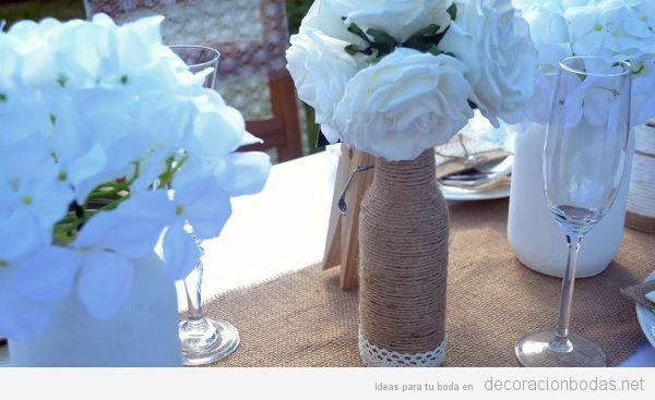 Cómo hacer centros de mesa rústicos y chics con materiales reciclados, paso a paso