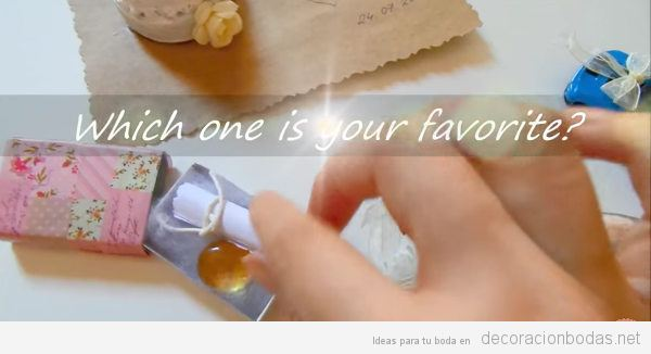 5 regalos creativos DIY para los invitados de tu boda