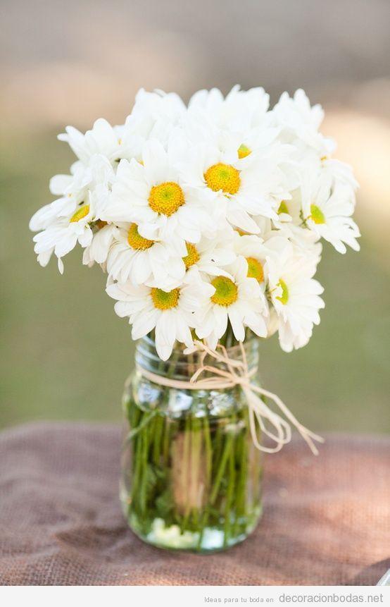 flores decorar boda hippie