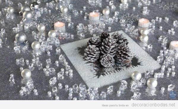 Centros de mesa DIY para bodas en invierno, vídeo paso a paso