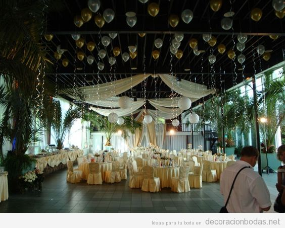 Decora tu boda con globos de helio decoraci n bodas Arreglos para boda en salon
