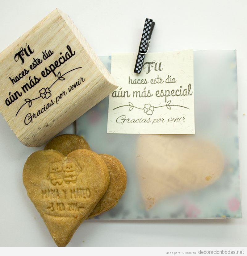 Sellos personalizados galletas regalo de boda