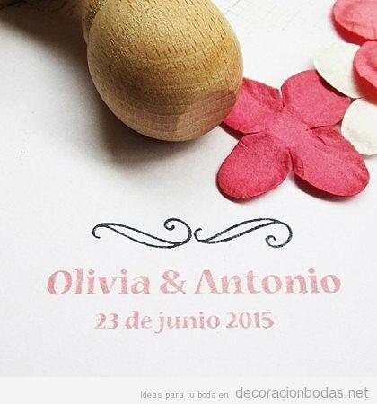 Sellos personalizados invitaciones boda 3