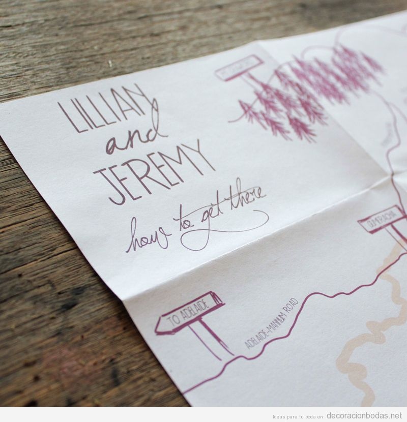 boda escritas a mano con bonita caligrafa y dibujos