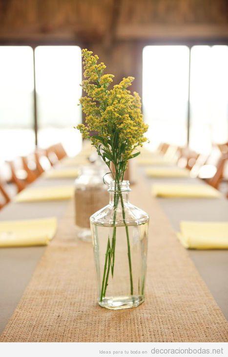 Decoración minimalista centros y mesas de boda 5