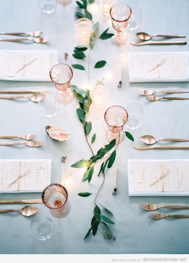 Decoración minimalista centros y mesas de boda 4