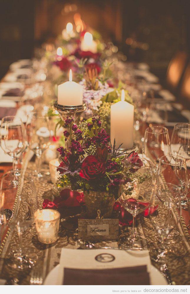 Ideas para decorar mesas de boda en Navidad