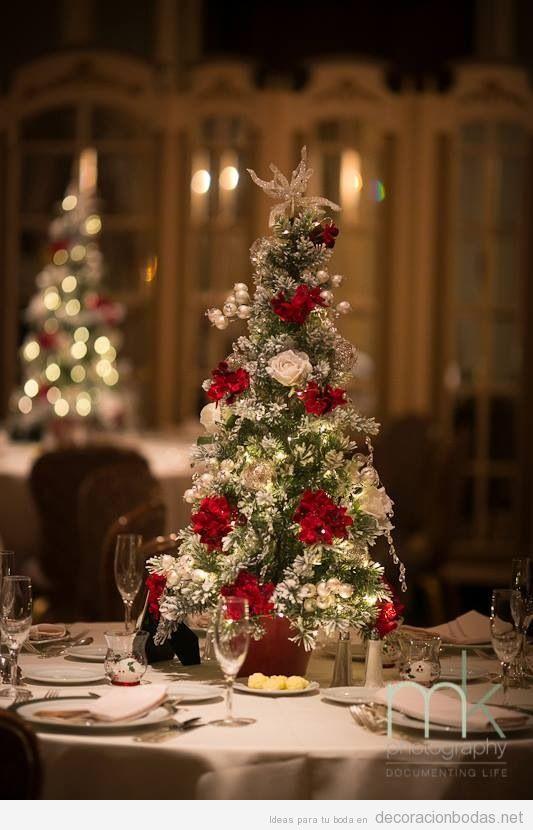 Decoraciones de mesa elegantes y originales para boda en for Ideas originales para decorar en navidad
