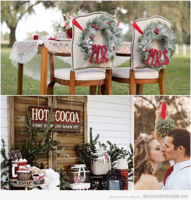 Ideas para decorar mesas de boda en Navidad 3