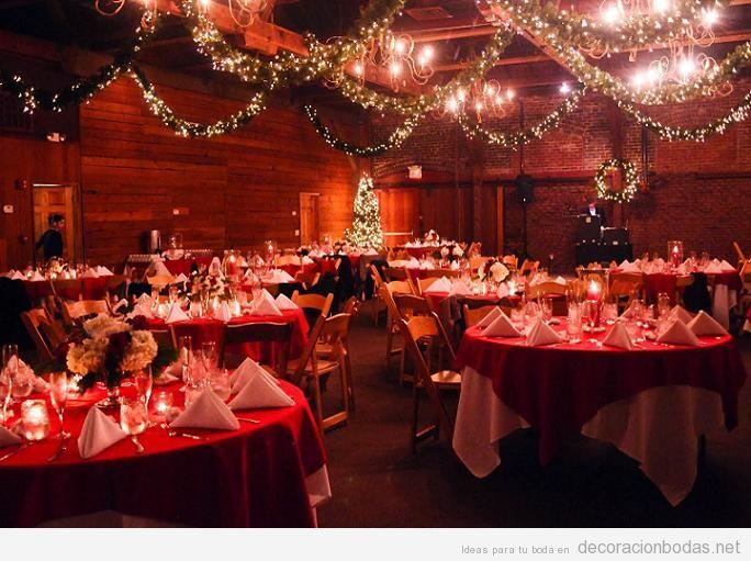 Ideas para decorar mesas de boda en Navidad 2