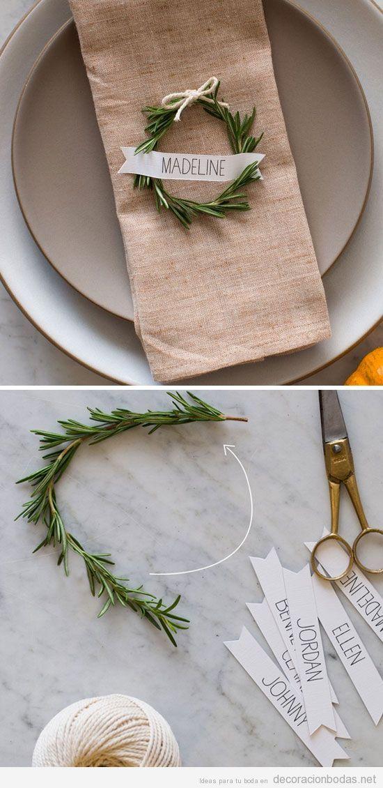 Ideas decorar bodas invierno, ramas abeto