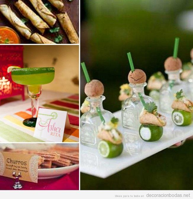Margaritas para boda estilo mexicano