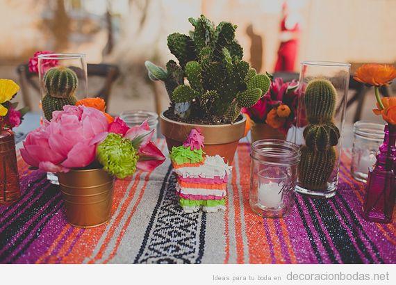 Decoración mesa boda estilo mexicano 2