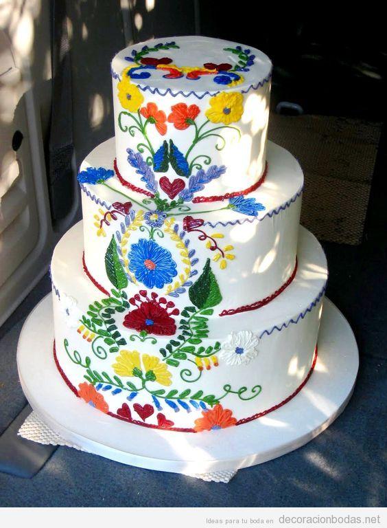 pastel decoracin boda estilo mexicano