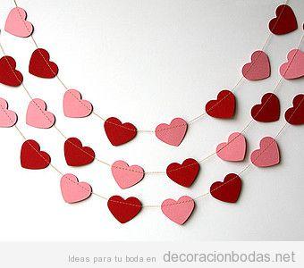 Ideas Para Decorar Una Boda En San Valentin Llena De Corazones - Corazones-de-decoracion