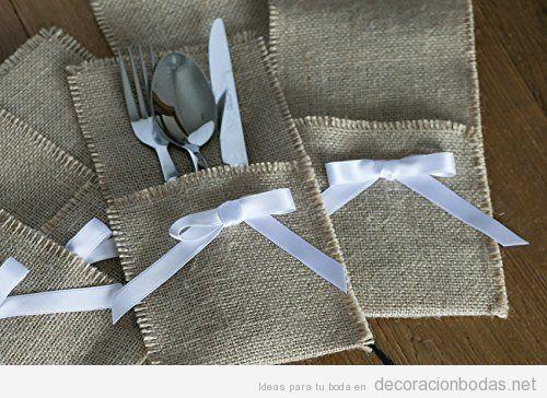 Comprar online porta cubiertos para decorar boda barata