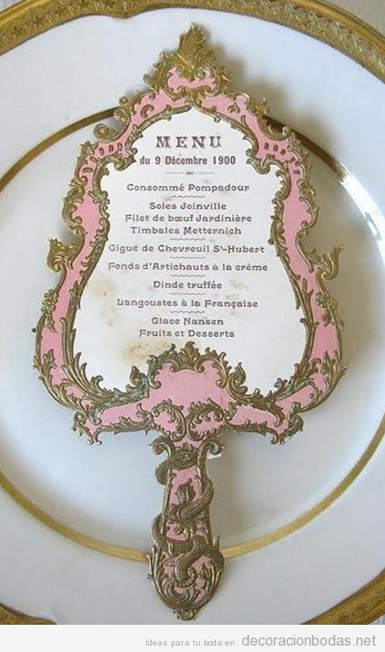 Menú para boda temática de La Bella y la Bestia
