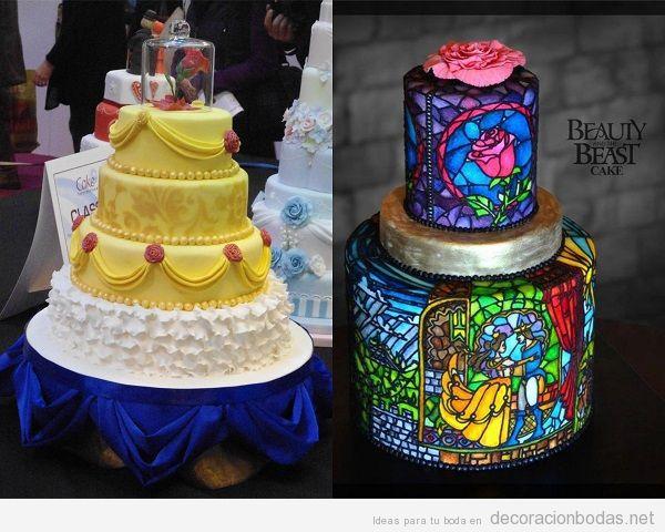 Pastel de boda La Bella y la Bestia
