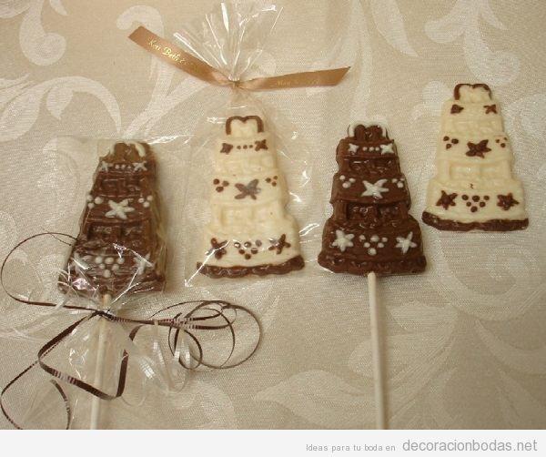 Piruletas de chocolate para bodas 2
