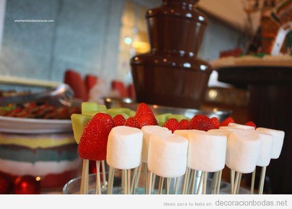 Fuentes de chocolate para bodas 3