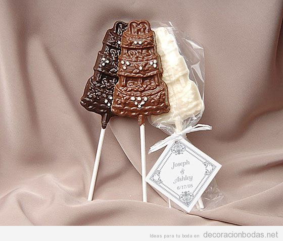 Chocolate para bodas: Las ideas mas originales para tu boda