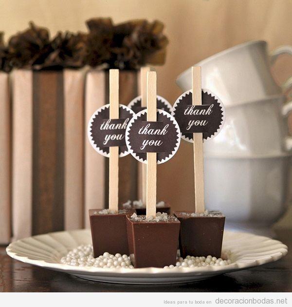 Regalos invitados de boda de chocolate