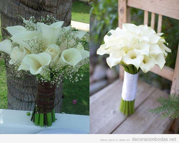 Ramos novia con flores lirios blancos o calas 2