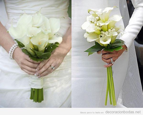 Decoraci n de boda con lirios blancos o calas unas flores for Adornos para bodas con plantas