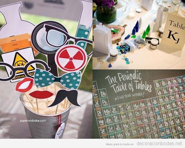 Decoración de bodas frikis: videojuegos, química, Lego, superhéroes y más