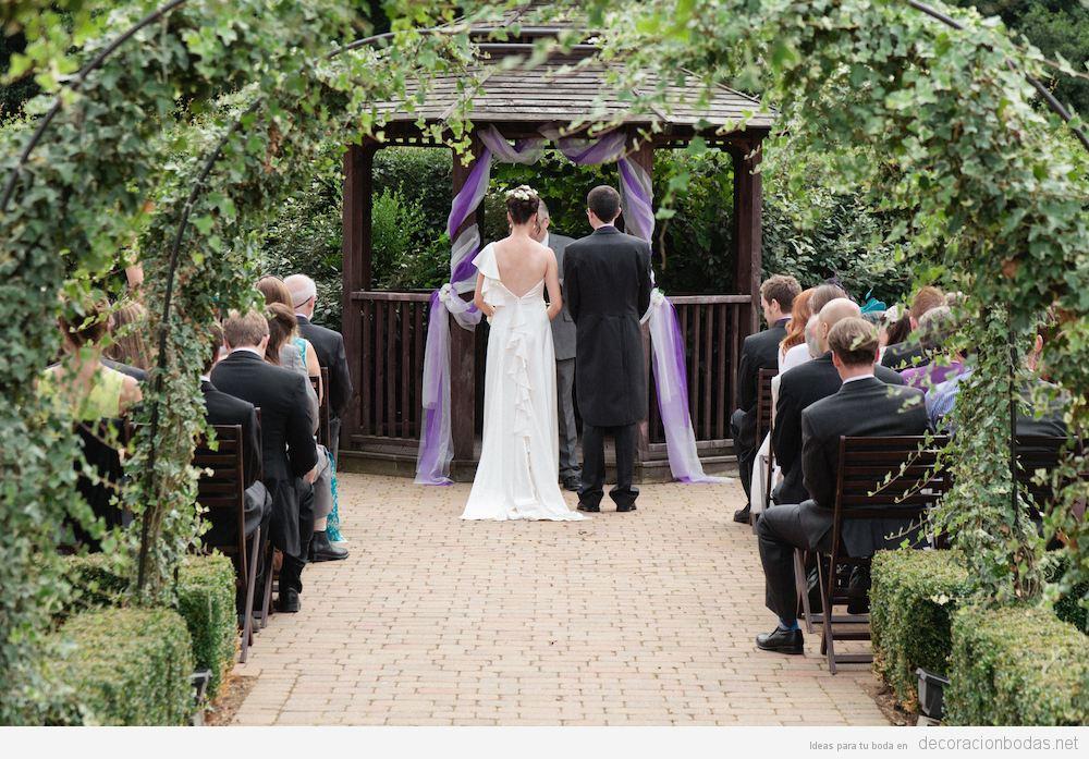 Ceremonia boda civil en el exterior