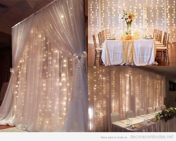 Decoraci n bodas ideas originales para decorar tu boda for Cortina de luces led