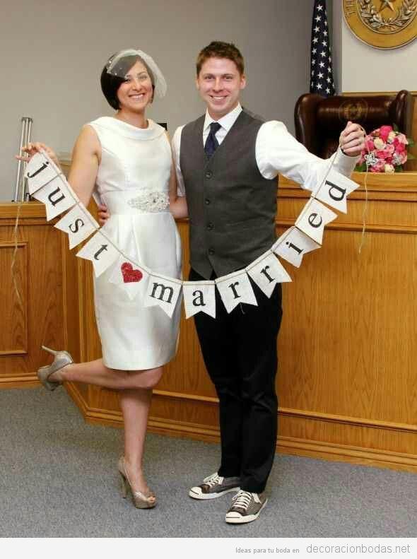 Decoración boda civil en ayuntamiento