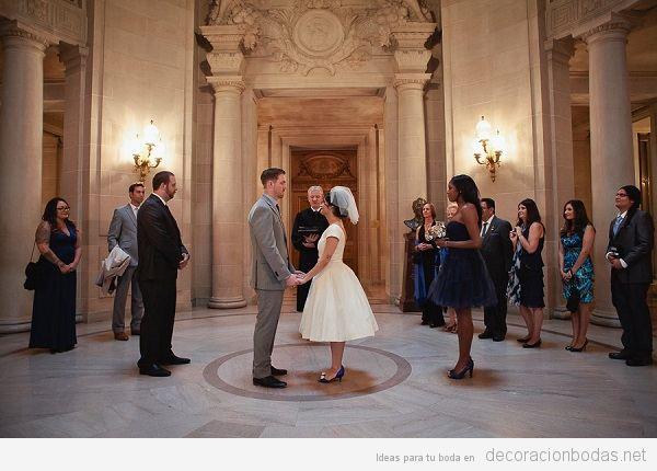 Decoración boda civil en ayuntamiento bonito