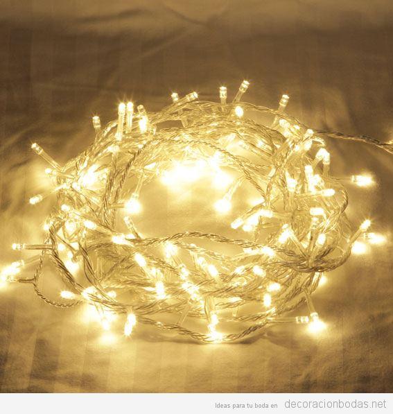 Decoraci n bodas ideas originales para decorar tu boda - Luces led calidas ...
